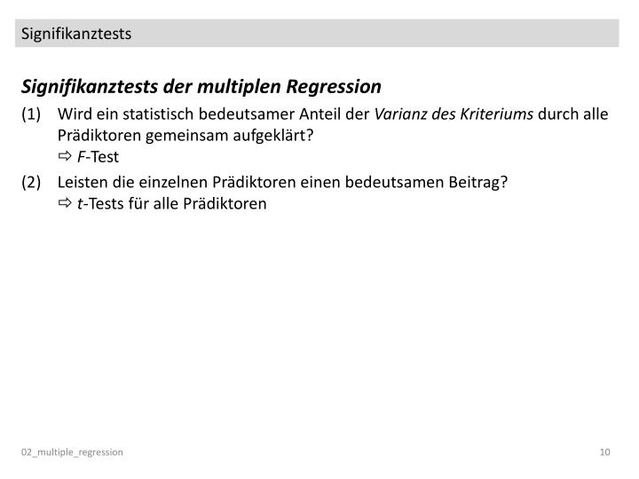 Signifikanztests