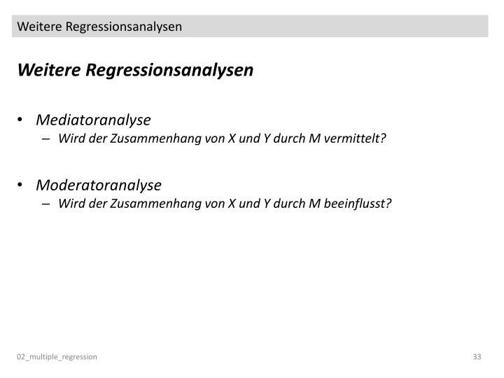 Weitere Regressionsanalysen