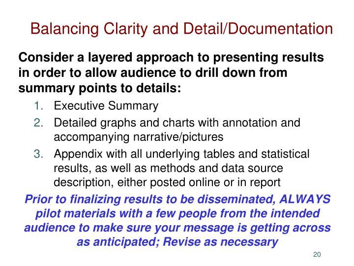 Balancing Clarity and