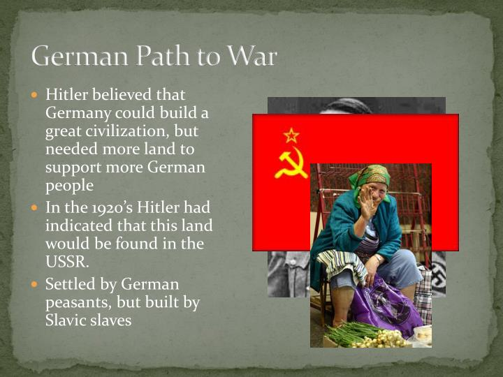 German Path to War