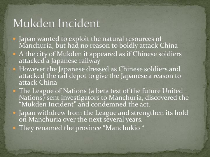 Mukden Incident