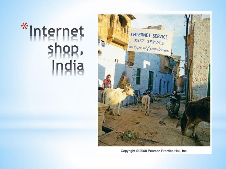 Internet shop, India