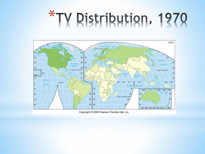 TV Distribution, 1970