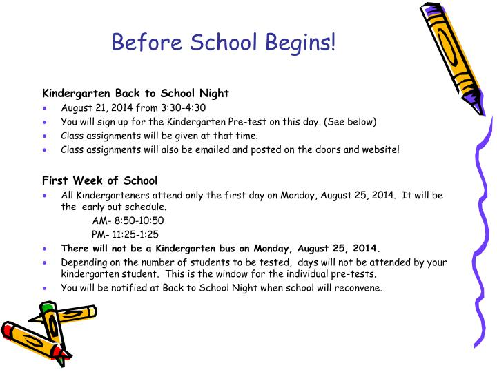 Before School Begins!