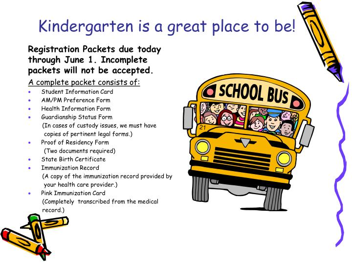 Kindergarten is a great place to be!