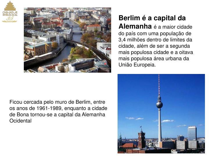 Berlim é a capital da Alemanha