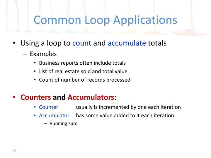Common Loop Applications