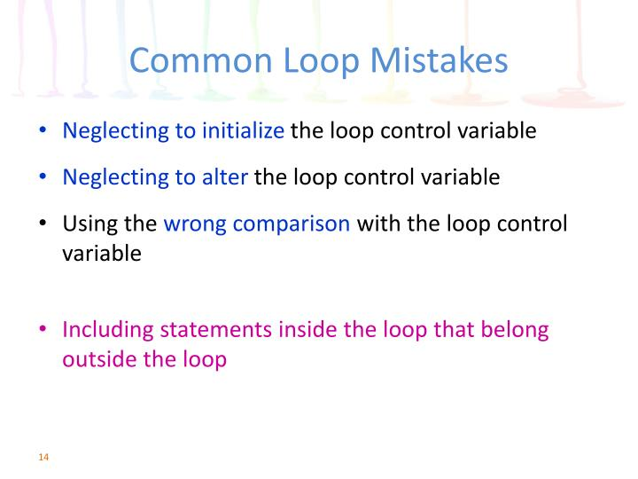 Common Loop Mistakes