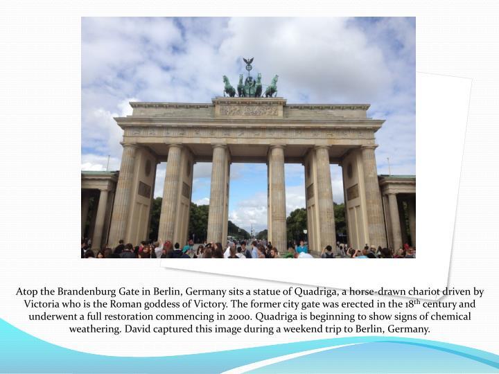 Atop the Brandenburg