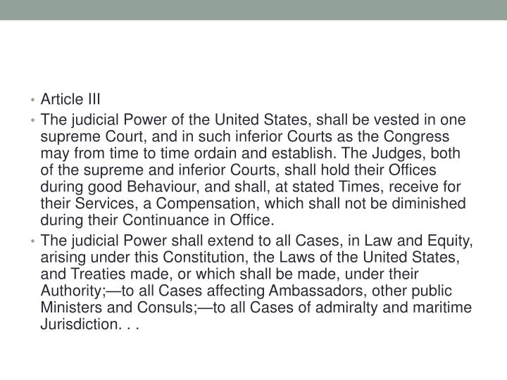 Article III