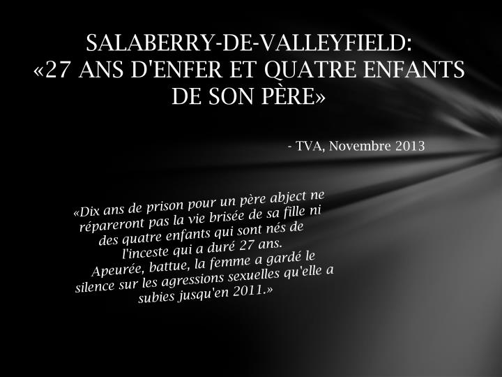 SALABERRY-DE-VALLEYFIELD: