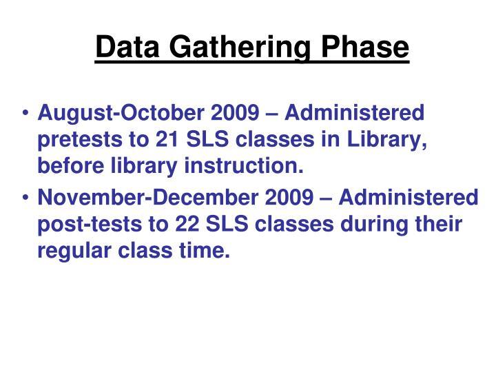 Data Gathering Phase