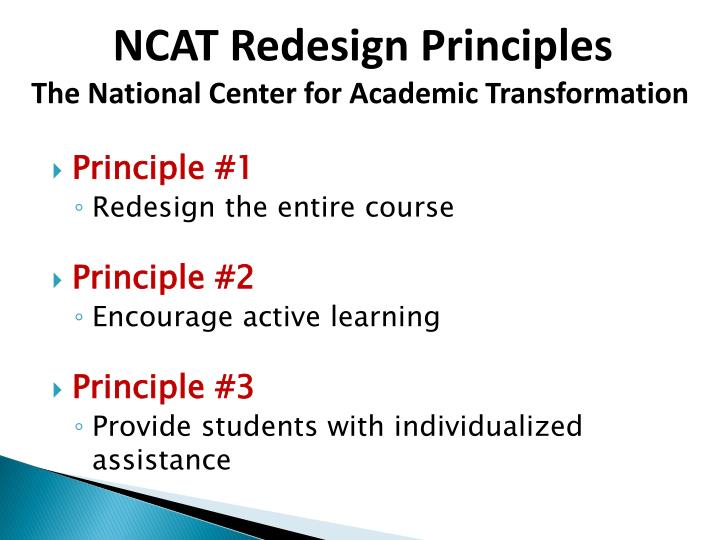 NCAT Redesign Principles