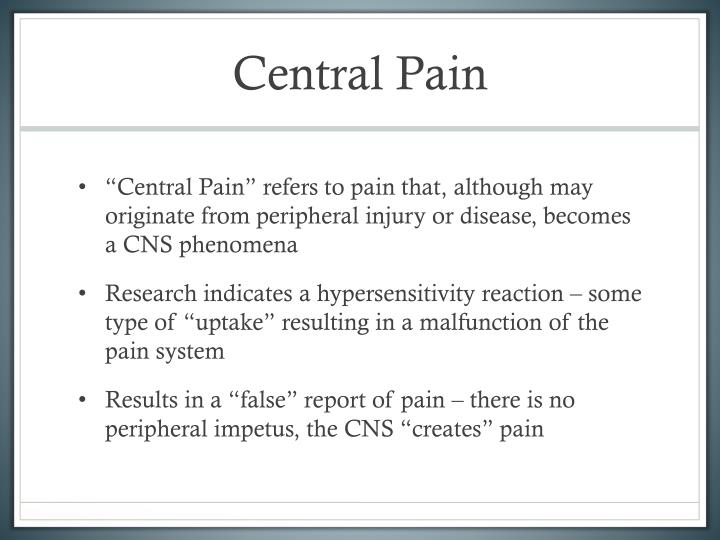 Central Pain
