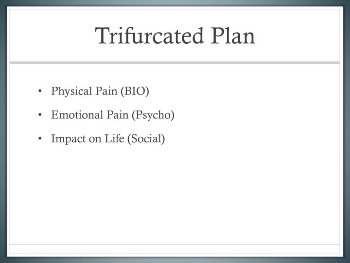Trifurcated Plan