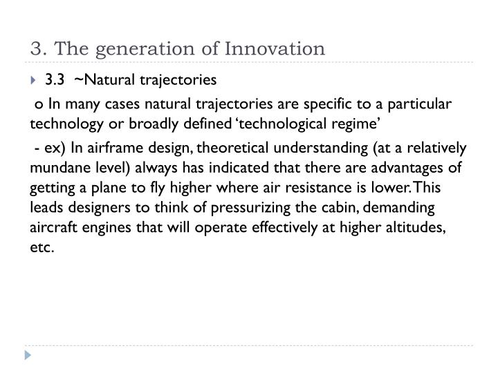 3. The generation of Innovation