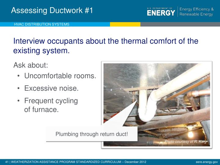 Analysis of Existing Ductwork - 1