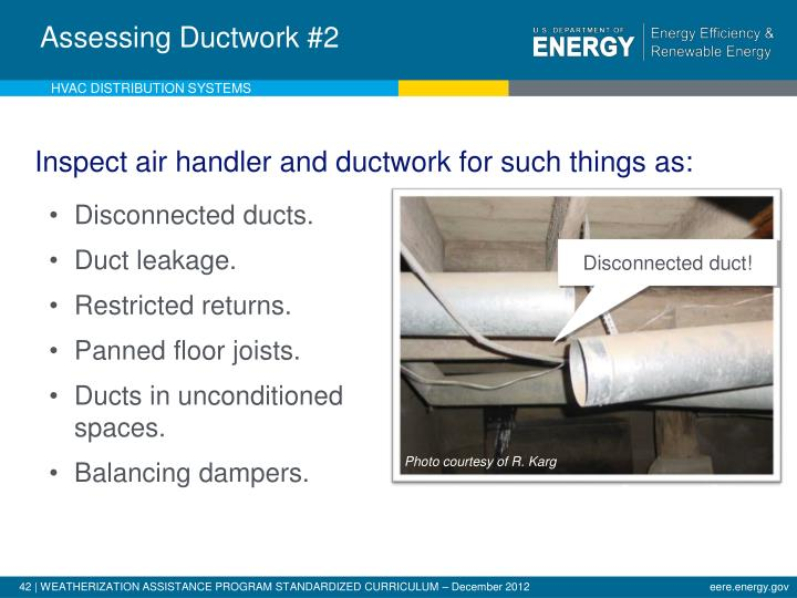 Analysis of Existing Ductwork - 2
