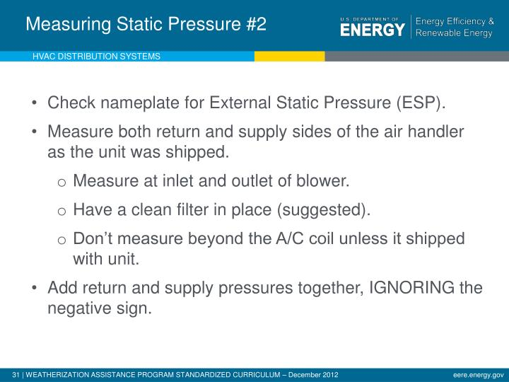 Measuring External Static Pressure