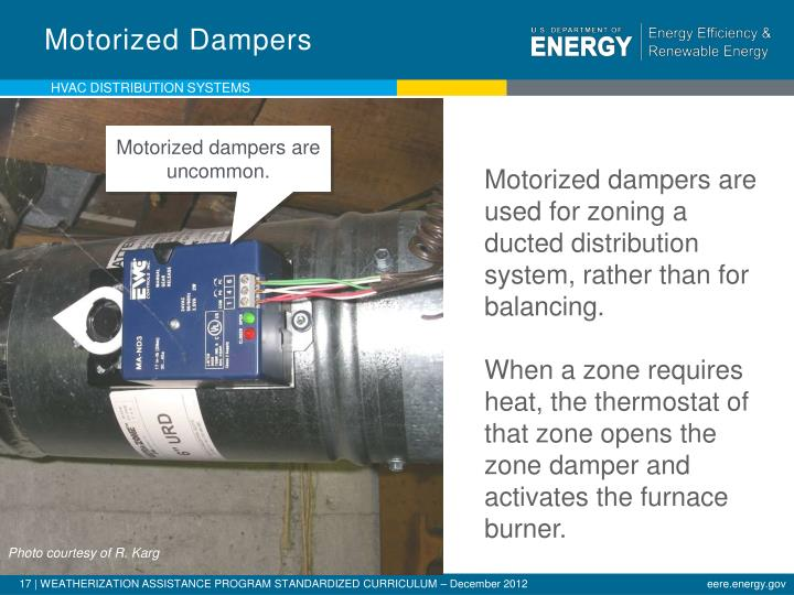 Motorized Dampers