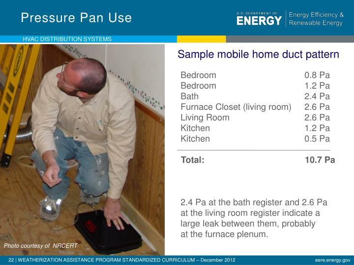 Pressure Pan Use