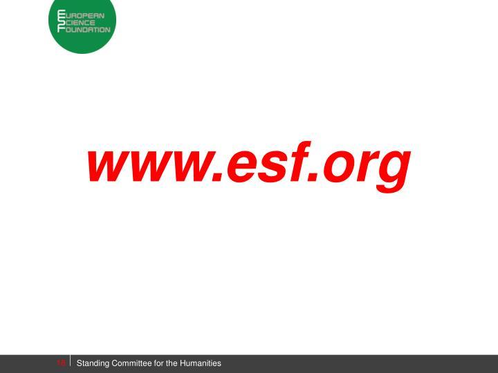 www.esf.org
