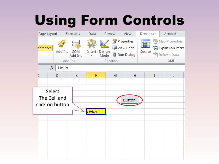 Using Form Controls