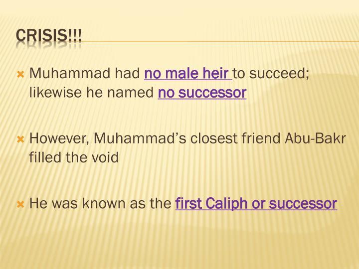 Muhammad had