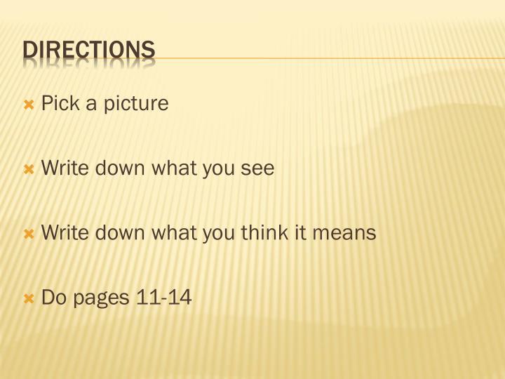 Pick a picture