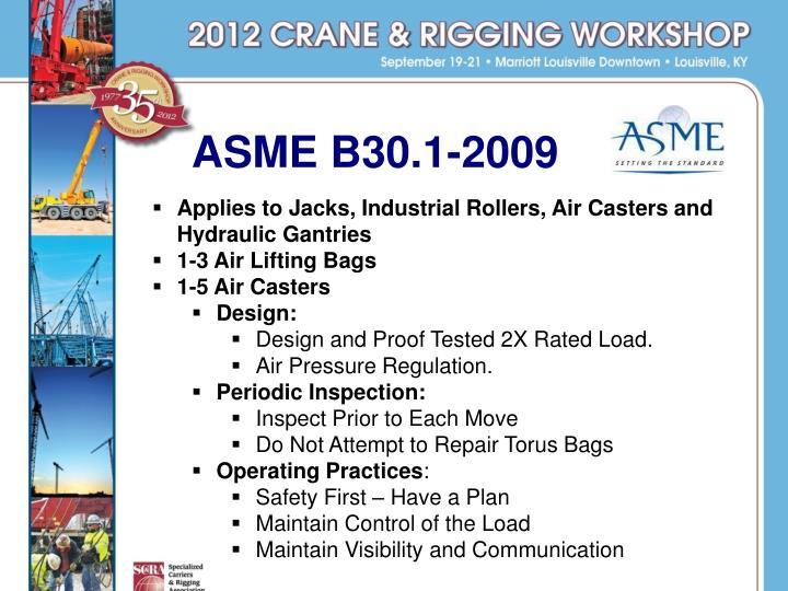 ASME B30.1-2009