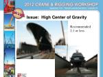 issue high center of gravity