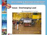 issue overhanging load