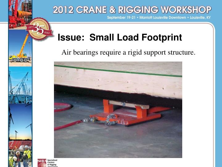 Issue:  Small Load Footprint