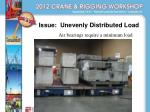 issue unevenly distributed load