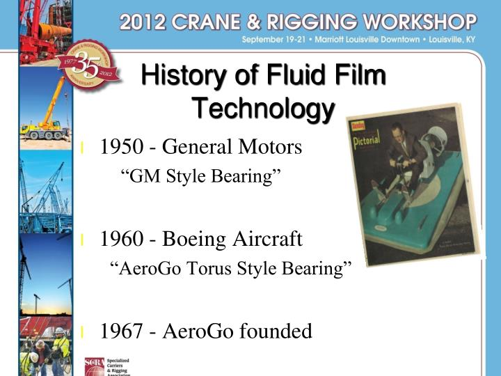 History of Fluid Film