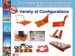 variety of configurations