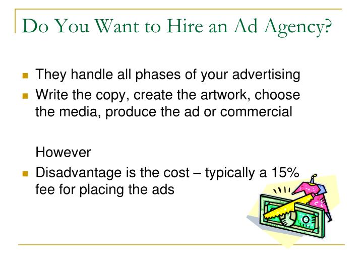 Ppt chapter 12 the promotion strategy powerpoint for Advertising agency fees