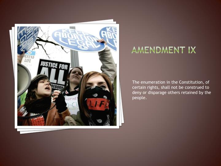 Amendment ix