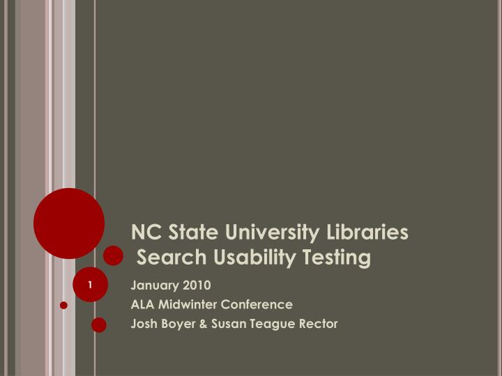 nc state university libraries search usability testing