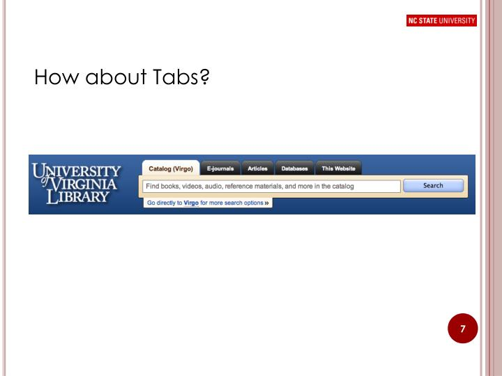 How about Tabs?
