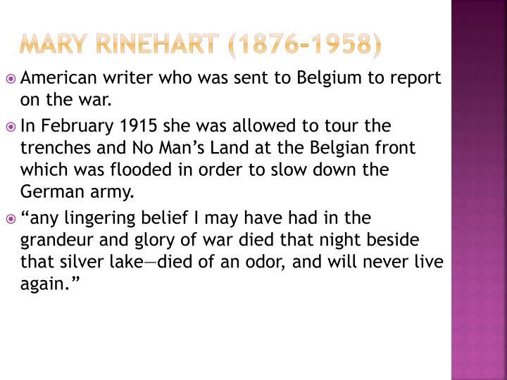 Mary Rinehart (1876-1958)