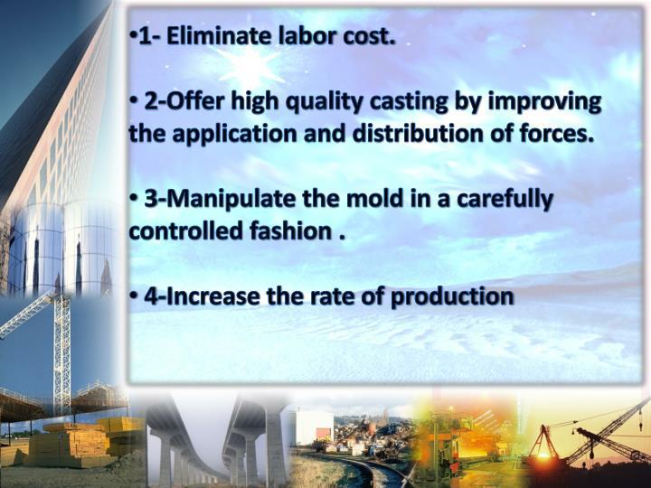 1- Eliminate labor cost.