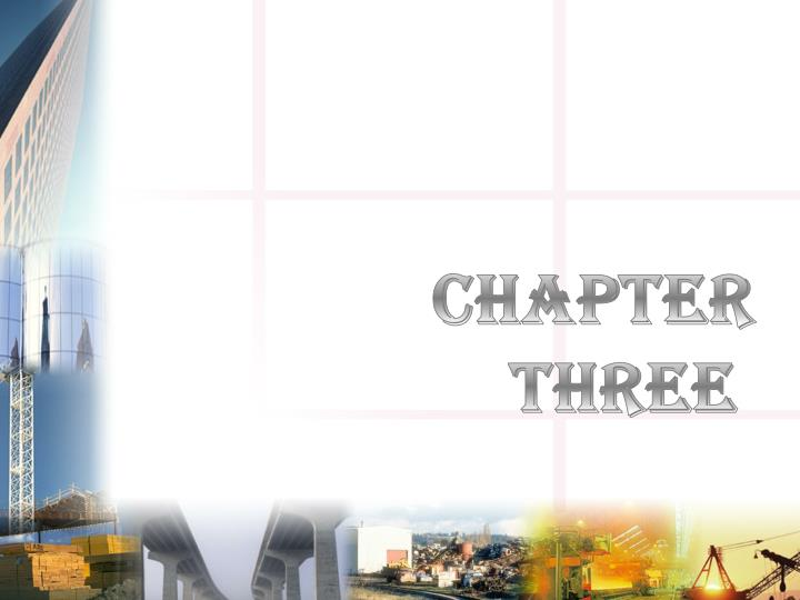 CHAPTER THREE