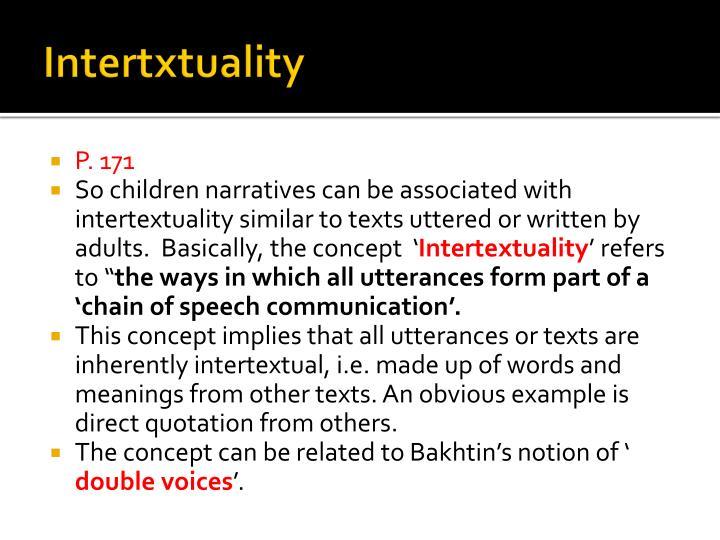 Intertxtuality