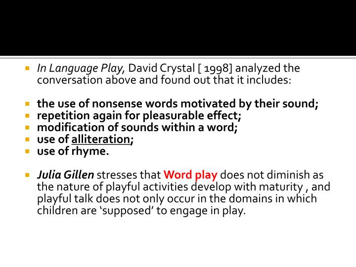 In Language Play,