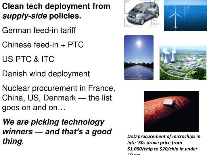 Clean tech deployment from