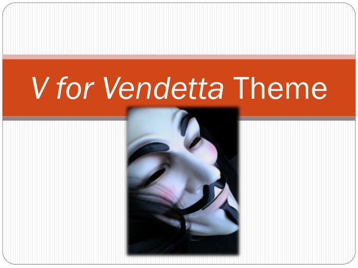 analysis of the movie v is for vendetta essay