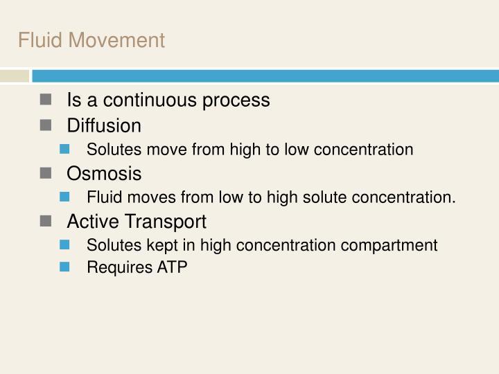 Fluid Movement