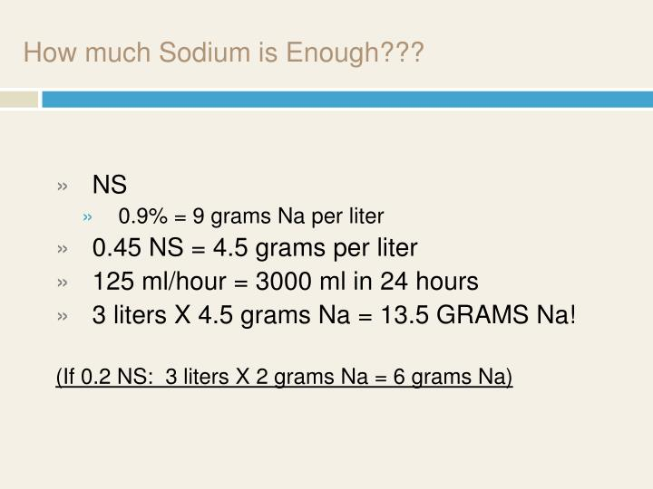 How much Sodium is Enough???