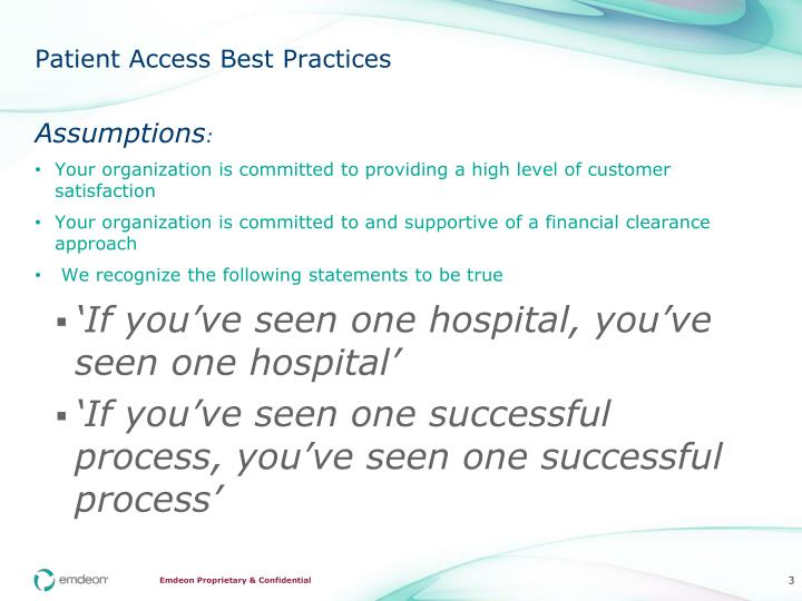 Patient Access Best Practices